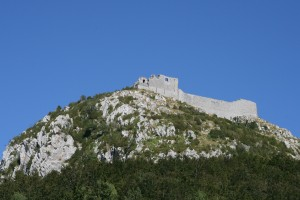 Montsegur-3,400 ft up from parking lot